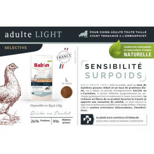 Adulte LIGHT (Poulet) - Embonpoint -