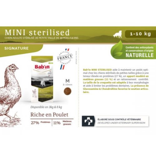 Mini ADULTE STERILISE (1 à 10 kg)